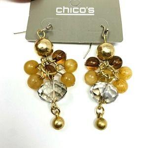 Chicos Earrings Chandelier Multi Color Career